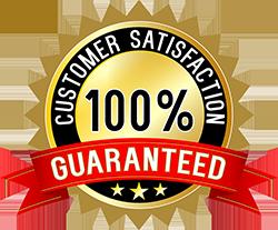 100% Gauranteed Customer Satisfaction logo
